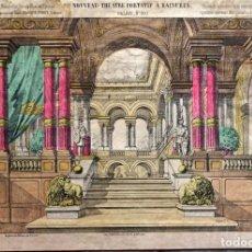 Colecionismo Recortáveis: LITOGRAFIA DECORACIÓN DE TEATRO ( NOUVEAU THÉATRE PORTATIF) AÑO 1880. ÉPINAL. Lote 269004229