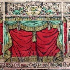 Colecionismo Recortáveis: LITOGRAFIA DECORACIÓN DE TEATRO ( AVANT-SCÈNE ET DIDEAU) AÑO 1880. ÉPINAL. Lote 269004829