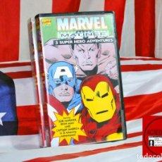 Coleccionismo Recortables: CAJA VHS ID ACREDITACIONES NAMOR - CAP AMERICA IRON MAN. Lote 269103443
