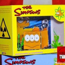 Coleccionismo Recortables: DIORAMA TOY BOX ACREDITABOX BLINKY PEZ MUTANTE 3 OJOS - LOS SIMPSONS -. Lote 269104013