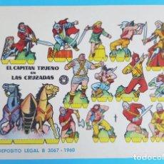 Coleccionismo Recortables: RECORTABLE ORIGINAL EL CAPITAN TRUENO EN LAS CRUZADAS, BRUGUERA 1960. Lote 269256768