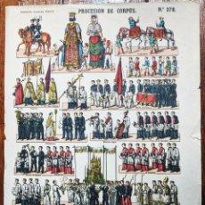 Coleccionismo Recortables: ESTAMPERIA PALUZIE- PROCESIÓN DE CORPUS . -Nº 378. -VELL I BELL. Lote 269471198