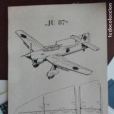Coleccionismo Recortables: JMFC - JUEGO DE LAMINAS RECORTABLES AVION MILITAR ALEMAN NAZI - JUNKERS STUKA JU 87. Lote 275902243