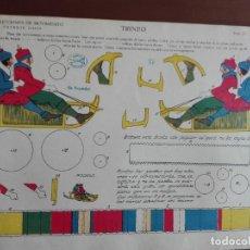 Coleccionismo Recortables: JMFC - BONITO JUEGO DE 8 LAMINAS RECORTABLES - LA TIJERA - AÑOS 40. Lote 275912083