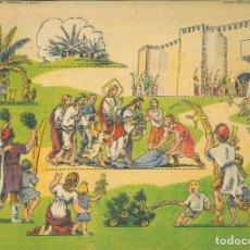 Coleccionismo Recortables: ENTRADA TRIUNFAL DE JESÚS EN JERUSALÉN (TEMA EVANGÉLICO). PANORAMAS SERIE COLOR. RECORTABLE. - C. B.. Lote 277703528
