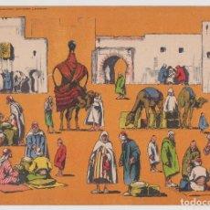 Coleccionismo Recortables: SEIX Y BARRAL, PANORAMAS SERIE COLOR Nº 16, MERCADO MORO. Lote 277847508