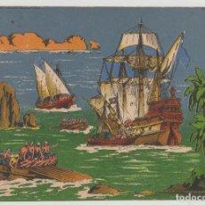 Coleccionismo Recortables: SEIX Y BARRAL, PANORAMAS SERIE COLOR Nº 12, ABORDAJE DE PIRATAS. Lote 277847908