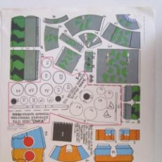 Coleccionismo Recortables: RECORTABLE DE DOS BOMBAS VOLANTES JAPONESA Y AMERICANA. Lote 278331383