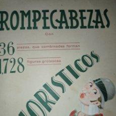 Coleccionismo Recortables: PRECIOSO ANTIGUO ROMPECABEZAS HUMORÍSTICO FIGURAS RECORTABLES EDICIONES BARGUÑO -BARSAL -VER FOTOS -. Lote 278704268