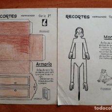 Coleccionismo Recortables: DOS RECORTABLES ANTIGUOS - RECORTES HERNANDO. Lote 280948908
