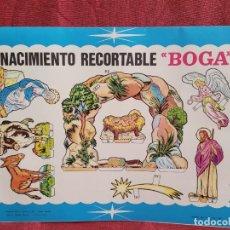 Coleccionismo Recortables: RECORTABLE NACIMIENTO BOGA AÑO 68. Lote 285238033