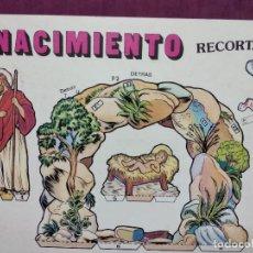 Coleccionismo Recortables: NACIMIENTO RECORTABLE, EDIVAS, BARCELONA, UNOS 48 X 34 CMS.. Lote 287740338