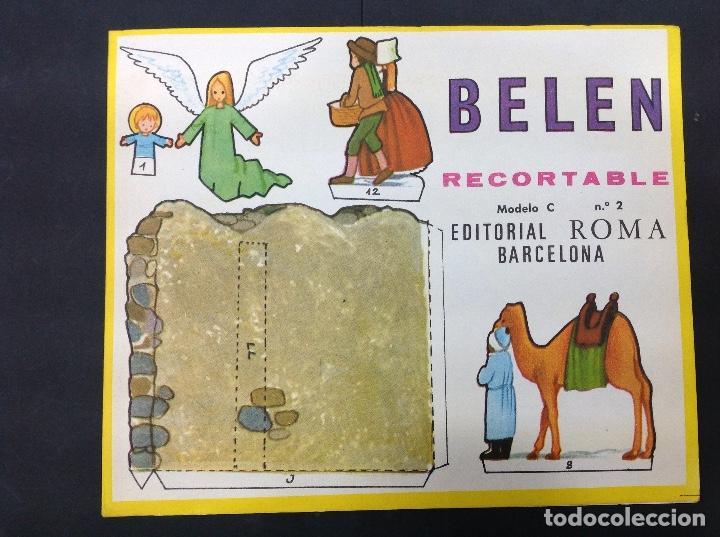MI BELÉN RECORTABLE, MODELO C, N 2. EDITORIAL ROMA. 1967 (Coleccionismo - Otros recortables)