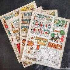 Coleccionismo Recortables: 4 RECORTABLES TBO COLECC.COMPLETA DE MAGISTER 1940. Lote 287918658