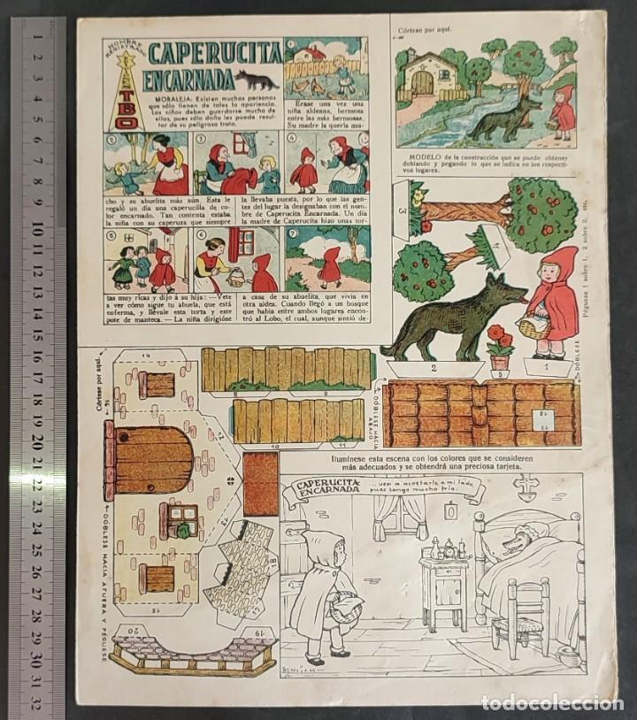Coleccionismo Recortables: 4 RECORTABLES TBO Colecc.completa de Magister 1940 - Foto 2 - 287918658