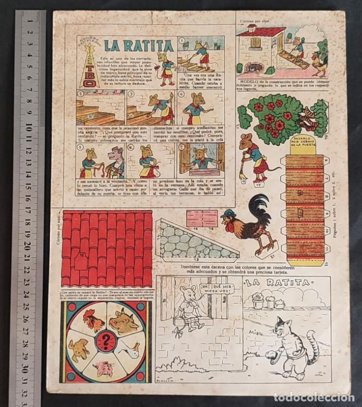 Coleccionismo Recortables: 4 RECORTABLES TBO Colecc.completa de Magister 1940 - Foto 4 - 287918658