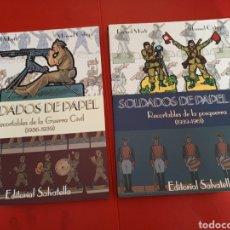 Coleccionismo Recortables: SOLDADOS DE PAPEL RECORTABLES GUERRA CIVIL Y POSGUERRA DOS TOMOS COMPLETA RICARD MARTÍ Y MANUEL ORTE. Lote 293446723