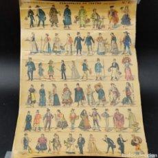 Coleccionismo Recortables: RECORTABLE PALUZIE, PERSONAJES DE TEATRO N-877. (LIT. HIJO DE PALUZIE, S EN C. BARCELONA) 27,5X39,5. Lote 293790328