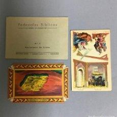 Coleccionismo Recortables: PEDESTALES BÍBLICOS, NACIMIENTO AÑOS 30. Lote 295786298