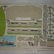 Coleccionismo Recortables: RECORTABLE CONSTRUCCIONES PEPI SERIE BUQUES Nº7 TAMAÑO 250X370 M/M.. Lote 5743586