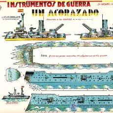 Coleccionismo Recortables: RECORTABLE INSTRUMENTOS DE GUERRA UN ACORAZADO Nº 2. Lote 7189155
