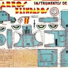 Coleccionismo Recortables: RECORTABLE INSTRUMENTOS DE GUERRA CARROS BLINDADOS Nº 5. Lote 7189241