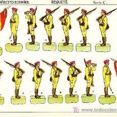 Coleccionismo Recortables: RECORTABLE EJERCITO ESPAÑOL REQUETE SERIE C Nº 3. Lote 7189909