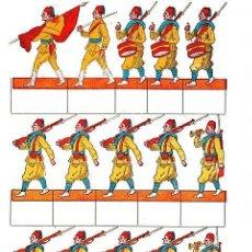 Coleccionismo Recortables: RECORTABLE EJERCITO ESPAÑOL REGULARES DE INFANTERIA PLIEGO Nº 1. Lote 7189989