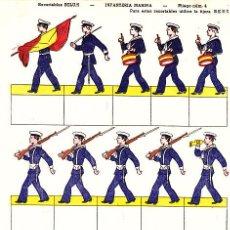 Coleccionismo Recortables: RECORTABLES BELUM INFANTERIA DE MARINA PLIEGO Nº 4. Lote 7190015