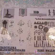 Collectionnisme Images à Découper: FONT WALLACE. BARCELONA, 1982. 27 X 33 CM. . Lote 7535161