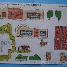 Coleccionismo Recortables: RECORTABLE CASAS ED. EDIVAS LAMINA 7. Lote 18187646