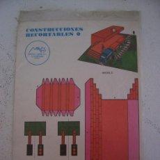 Coleccionismo Recortables: CONSTRUCCIONES RECORTABLES, ED MAVEL Nº4 (ESTACION DE TRENES) - 2 HOJAS EN PLASTICO. Lote 25511071