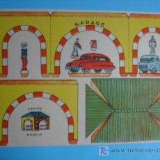 Coleccionismo Recortables: RECORTABLE MODELO GARAGE PEQUEÑO FORMATO. Lote 18188495