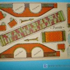 Coleccionismo Recortables: RECORTABLE, MODELO PUENTE. PEQUEÑO FORMATO.. Lote 14153688
