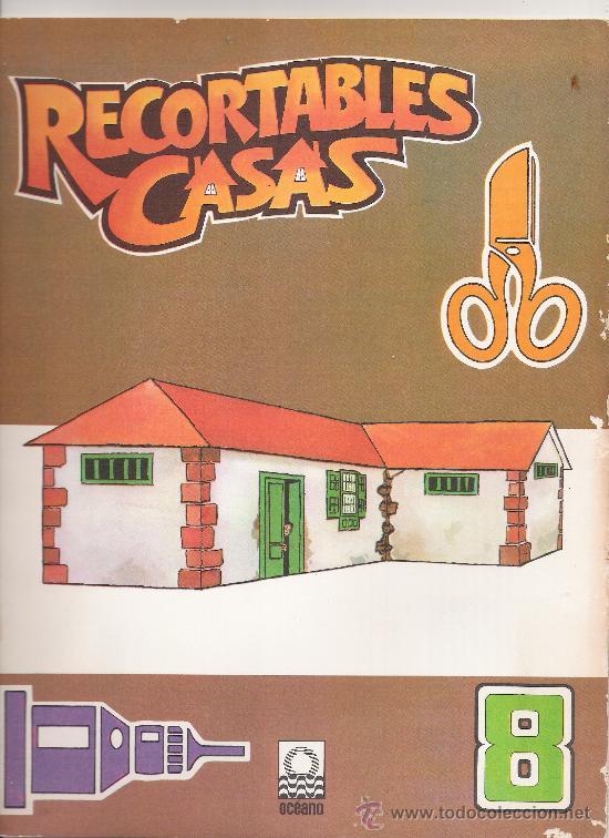 RECORTABLES CASAS. PUBLICACIONES OCEANO. AÑO 1983. (Coleccionismo - Recortables - Construcciones)