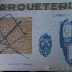 Coleccionismo Recortables: CUADERNO MARQUETERIA EDITORIAL SALVATELLA Nº 20. Lote 26716382
