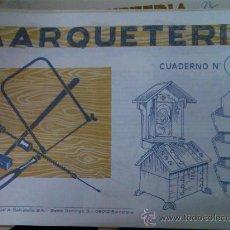 Coleccionismo Recortables: CUADERNO MARQUETERIA EDITORIAL SALVATELLA Nº 13. Lote 26675954
