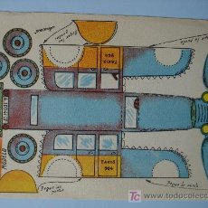 Coleccionismo Recortables: RECORTABLE MODELO TAXI PEQUEÑO FORMATO 16 X 11 CM.. Lote 185929863