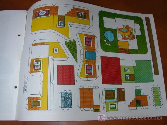 RECORTABLE KIKI-LOLO SERIE CASAS NÚM 10. EDITORIAL ROMA. 1974. ORIGINAL, NO ES COPIA NI REPRODUCCIÓN (Coleccionismo - Recortables - Construcciones)