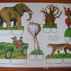 Coleccionismo Recortables: RECORTABLE KIKI-LOLO SERIE ANIMALES Nº 1. ED. ROMA. 1970. ORIGINAL, NO ES COPIA NI REPRODUCCIÓN. Lote 25407166
