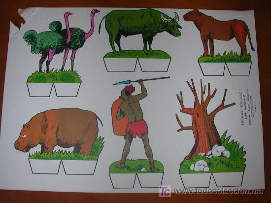 RECORTABLE KIKI-LOLO SERIE ANIMALES Nº 2. ED. ROMA. 1970. ORIGINAL, NO ES COPIA NI REPRODUCCIÓN (Coleccionismo - Recortables - Construcciones)
