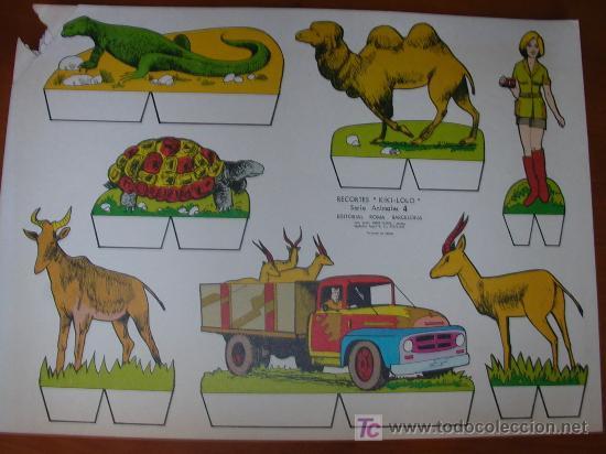 RECORTABLE KIKI-LOLO SERIE ANIMALES Nº 4. ED. ROMA. 1970. ORIGINAL, NO ES COPIA NI REPRODUCCIÓN (Coleccionismo - Recortables - Construcciones)