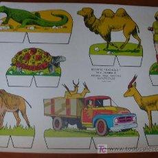 Coleccionismo Recortables: RECORTABLE KIKI-LOLO SERIE ANIMALES Nº 4. ED. ROMA. 1970. ORIGINAL, NO ES COPIA NI REPRODUCCIÓN. Lote 25407169