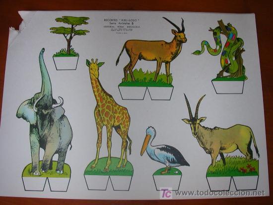 RECORTABLE KIKI-LOLO SERIE ANIMALES Nº 5. ED. ROMA. 1970. ORIGINAL, NO ES COPIA NI REPRODUCCIÓN (Coleccionismo - Recortables - Construcciones)
