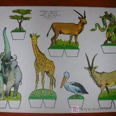 Coleccionismo Recortables: RECORTABLE KIKI-LOLO SERIE ANIMALES Nº 5. ED. ROMA. 1970. ORIGINAL, NO ES COPIA NI REPRODUCCIÓN. Lote 25407170