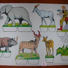 Coleccionismo Recortables: RECORTABLE KIKI-LOLO SERIE ANIMALES Nº 7. ED. ROMA. 1970. ORIGINAL, NO ES COPIA NI REPRODUCCIÓN. Lote 25427105