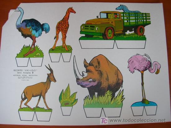 RECORTABLE KIKI-LOLO SERIE ANIMALES Nº 9. ED. ROMA. 1970. ORIGINAL, NO ES COPIA NI REPRODUCCIÓN (Coleccionismo - Recortables - Construcciones)
