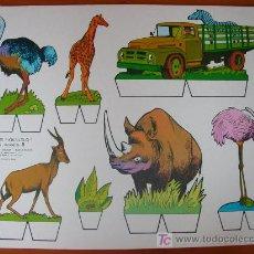 Coleccionismo Recortables: RECORTABLE KIKI-LOLO SERIE ANIMALES Nº 9. ED. ROMA. 1970. ORIGINAL, NO ES COPIA NI REPRODUCCIÓN. Lote 25427107
