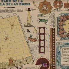Coleccionismo Recortables: RECORTABLES (24X32). EL FARO DE LA ISLA DE LAS FOCAS. TBO (AÑOS 40). Lote 23543124