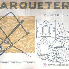 Coleccionismo Recortables: CUADERNOS MARQUETERIA ANTIGUOS - AÑOS 60 - ESPEJO - SOPORTA LIBROS Nº 14 - SALVATELLA (5+1 GRATIS). Lote 28931080
